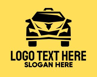 Taxi - Yellow Taxi Cab logo design