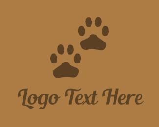 Footprint - Brown Paws logo design