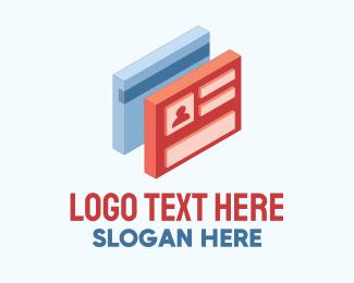 Social Media - 3D Identification Card logo design