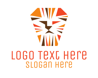 Tiger - Tough Orange Lion logo design