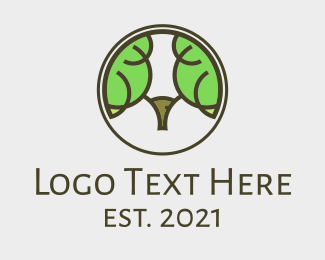 Animal - Ram Tree Forest  logo design