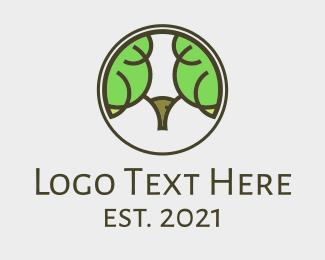 Forest Animal - Ram Tree Forest logo design
