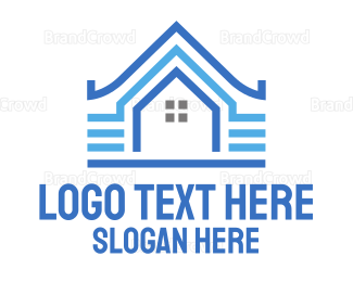 Architect - Blue Pattern House logo design