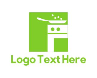 Pan - Green Kitchen logo design