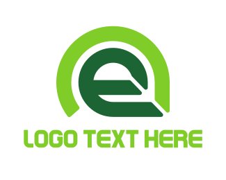 Ecosystem - Round E Leaf  logo design