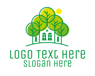 Forest - Green Forest House logo design