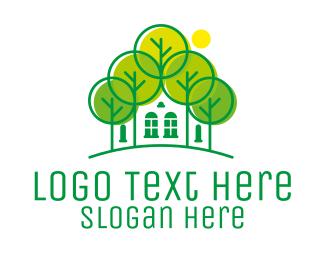 Forest - Green Forest House logo design