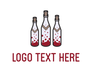 Alcohol - Wine Bottles logo design