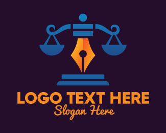 Legal - Legal Pen Scales logo design