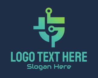 Digital Circuit - Digital Circuit Letter G logo design