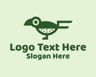 Fresh Produce - Green Kiwi Bird logo design