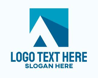 Letter A - Silhouette House Letter A logo design