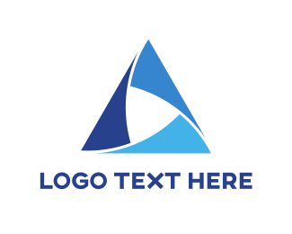 Peak - Blue Triangle logo design