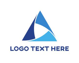 Balance - Blue Triangle logo design