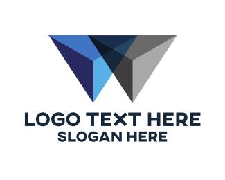 Hard - Metallic Pyramids logo design