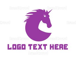 Fiction - Purple Unicorn Gaming logo design