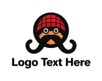 Hipster - Hipster Moustache logo design