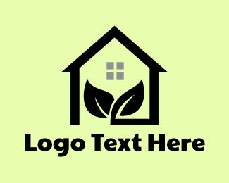 Environmental - Black Home Sprout logo design