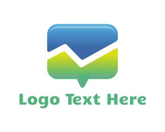 Chat - Mountain Chat logo design