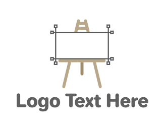 Photoshop - Vector Easel logo design