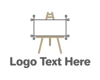 Blackboard - Vector Easel logo design