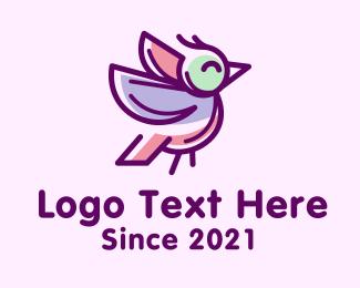 Finch - Purple Finch Bird logo design