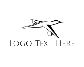Plane - Duck Plane logo design