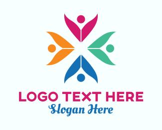 Human Resources - Colorful Crowd logo design