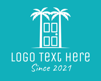 House - Palme Beach Hotel logo design