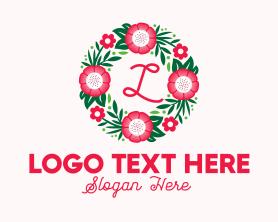 Bouquet - Bouquet Wreath Lettermark logo design