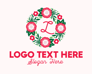 """Bouquet Wreath Lettermark"" by town"