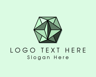 Gemstone - Green Gem logo design