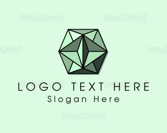 Mining - Green Gem logo design