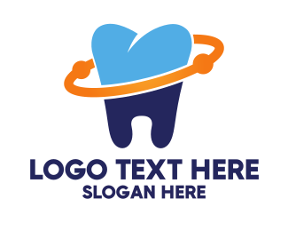 Molar - Dental Planet logo design