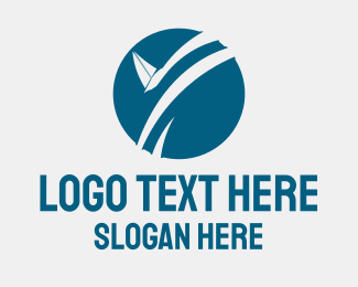 Sailboat - Sailboat Circle logo design