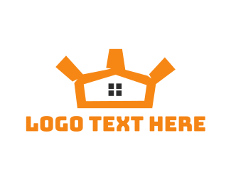 Orange House - House Crown logo design
