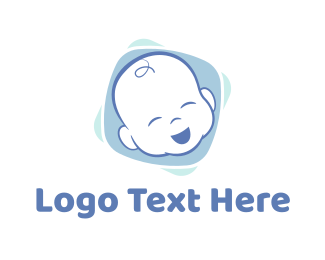 Blue Baby - Baby Boy logo design