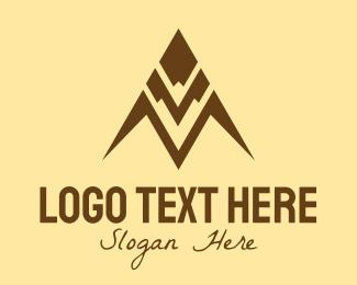 Mountain Top - Mountain Peak Letter M logo design