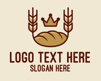Wheat - Wheat Bread Loaf  logo design