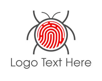 Bug - Fingerprint Bug logo design