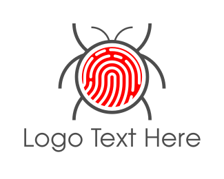 Virus - Fingerprint Bug logo design
