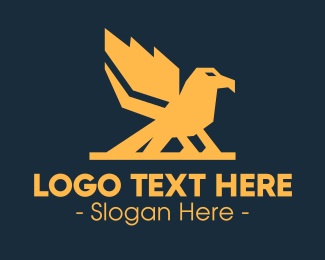 Flying Bird - Strong Bird logo design