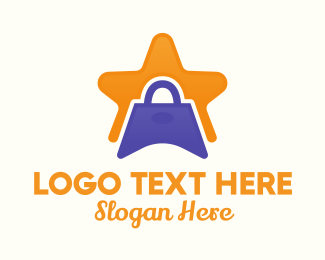 Handbag - Star Shopping Bag logo design