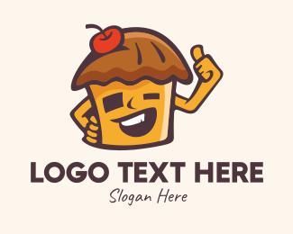 Pie - Hut Pie Mascot logo design
