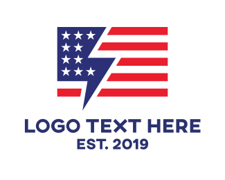 Mobile Phone - America Chat logo design