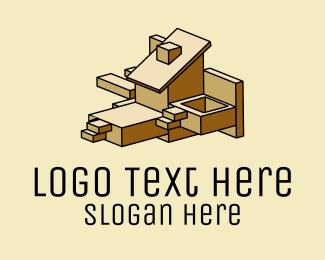 Arches - Geometric Building Construction  logo design