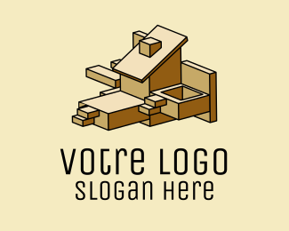 Construction Geometric Building Construction  logo design