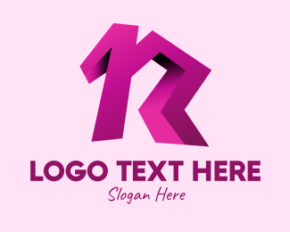 Break Dance - 3D Letter R logo design