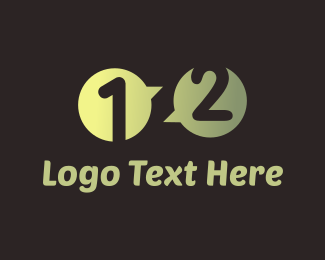 Number 1 - Chat Numbers logo design