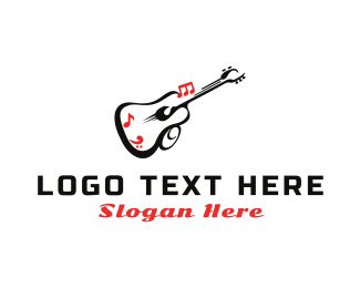 Folk - Guitar Sound logo design